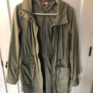 Olive Green H&M Fall Jacket (Size 6)